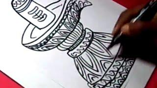 How To Draw Shiva Lingam Mahadeva Drawing Step By Step For Kids