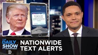 The U.S. Prepares to Test Nationwide Text Alerts & Amazon Raises Its Minimum Wage | The Daily Show