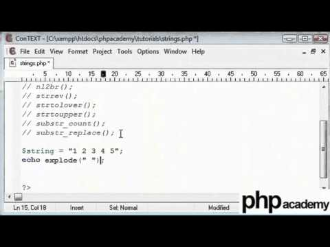 PHP String Functions Part 1 - English