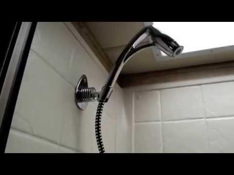 Installing an Oxygenics BodySpa RV shower head in a RV.