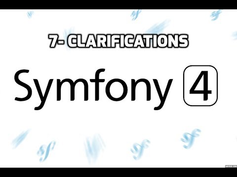 Tutoriel Symfony 4 - Clarifications (Partie 7)