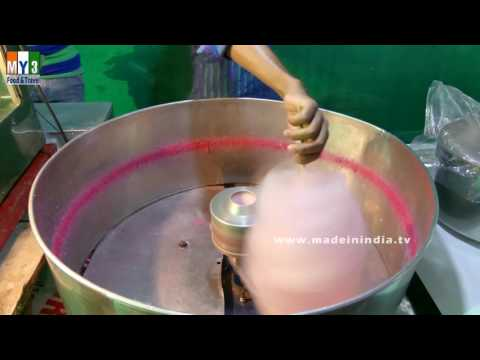 CHILDREN FAVORITE SUGAR CANDY FLOSS | INDIAN SUGAR CANDY FLOSS MAKING street food