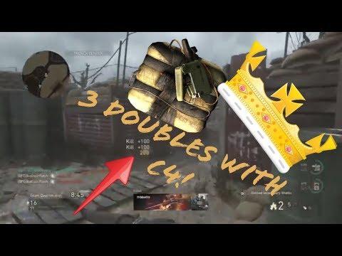 C4 KING! 3 Double C4 kills in 1 Game (ShotGun & C4 Gameplay!) - COD WW2