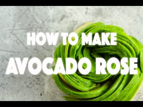 How to Make Avocado Flower - Stop Motion