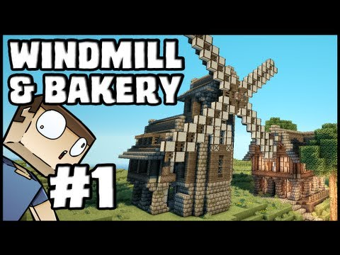 Minecraft Lets Build: Windmill & Bakery - Part 1