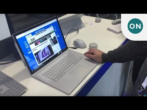 Hands on with the Surface Book 2 at Future Decoded