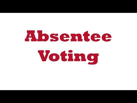 Election Judge Training Video - Pt. 12 Absentee Voting