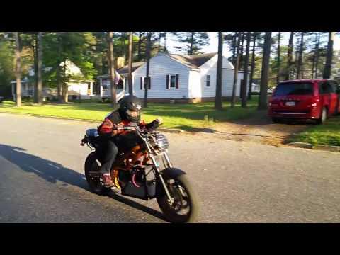 Electric Motorcycle Conversion: 72v SLA 20Ah test