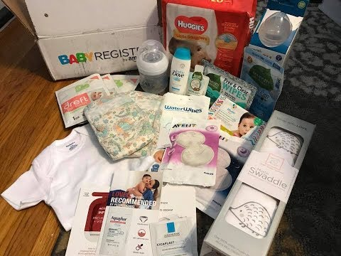 Amazon Free Baby Welcome Box 2017/ full sized samples / Free Baby stuff