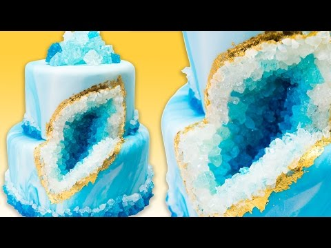 How to Make a Geode Cake (Geode Wedding Cake) with Rock Candy