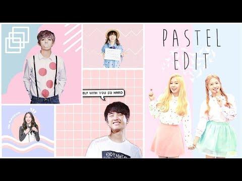 Cara Membuat Foto Pastel Edit ala K-Pop | Picsart Tutorial