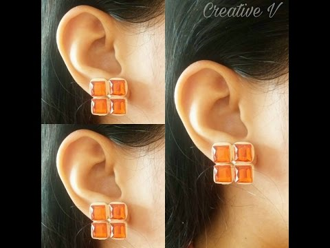 How To Make Quilling Stud Earring Tutorial /Design 22