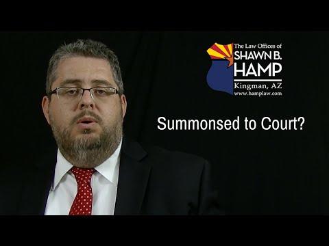 Summonsed to Court?