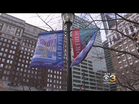 A String Theory Charter Students Design Holiday Banners On Ben Franklin Parkway
