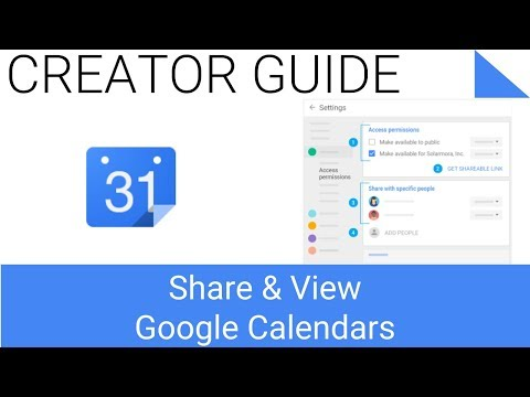 Share and View Google Calendars