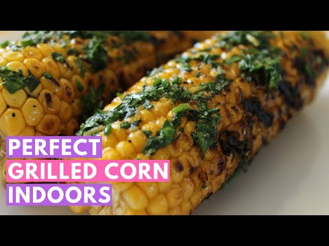 Vegan barbecue indoors: The perfect grilled corn on the cob recipe