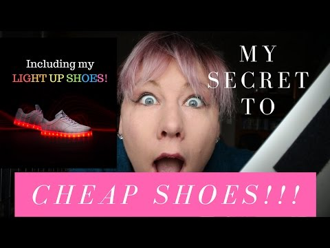 The SECRET WEBSITE to get BRANDED shoes for cheap!! Including Light Up Trainers!!!