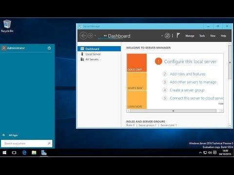 Server 2016 as a Small Business Server OS