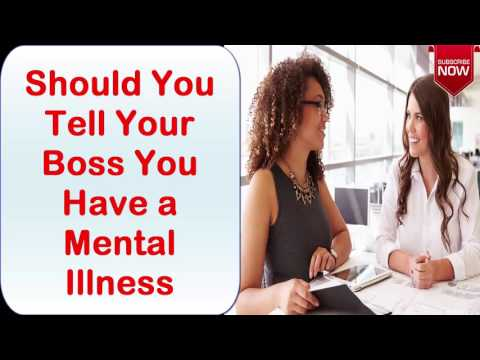 Should You Tell Your Boss You Have a Mental Illness