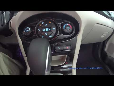How to change the ambient lighting in a Ford Fiesta