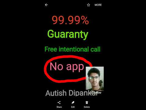 FREE INTERNATIONAL CALL WITHOUT ANY APP/100% GUARANTY/NEW 2017