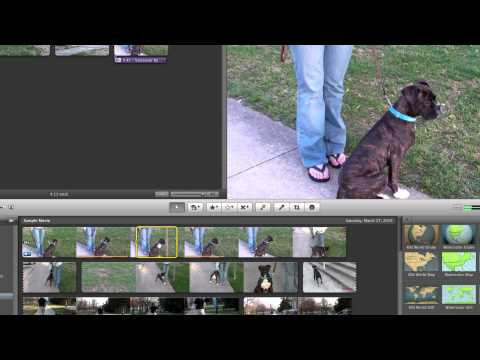 Cropping video in iMovie 11