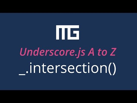 Underscore.js intersection function // _.intersection()