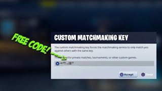free custom matchmaking keys for fortnite
