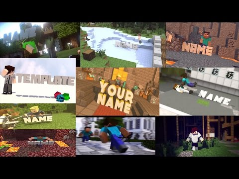 Top 10 Minecraft Free Intro Templates 2016 Blender Only + Download + PVP