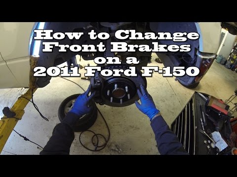 How to Change Front Brake Pads and Rotors on a 2011 Ford F150