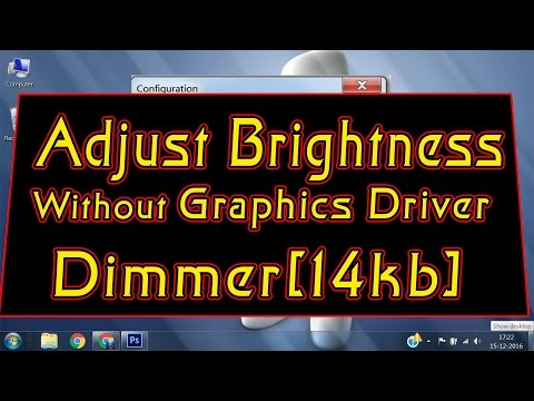 How to DIM computer Screen BEYOND the MINIMUM | Control Brightness WINTHOUT Graphic Drivers✔