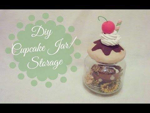 DIY Cupcake Jar Storage | CuteNailPolishArt