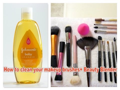 How to clean your makeup brushes + Beauty Blender