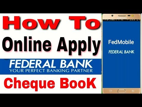 HOW TO ONLINE APPLY  FEDERAL BANK CHEQUE BOOK || Federal Bank Mobile Banking