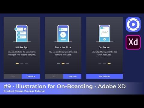 #9 - Illustration UI Design - Product Design Process Tutorial