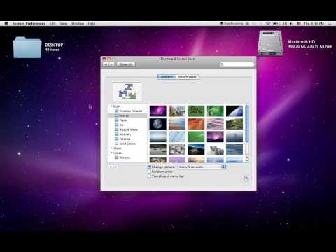 How to set your screen saver/desktop picture [mac]