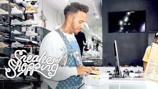 Lewis Hamilton Goes Sneaker Shopping With Complex