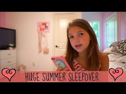 Sleepover Swimming at Midnight * I love SUMMER