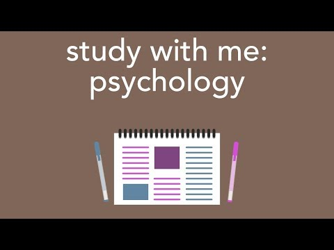 study with me: college psychology