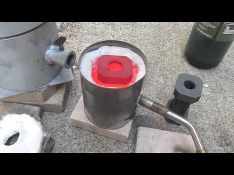 Home Made Propane Furnace. Easy DIY. Melts, Silver, Gold, Copper