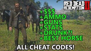 Download Red Dead Redemption 2 - All Cheat Codes (Infinite Money, Max Ammo, Spawn War Horse, Best Stats, etc) Video