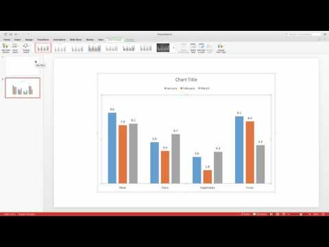 How to Insert a Bar, Line, or Pie Chart into a Powerpoint Slide for Mac