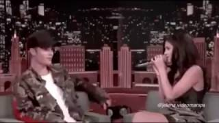 Justin Bieber & Selena Gomez at The Tonight Show With Jimmy Fallon
