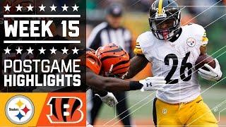 Steelers vs. Bengals | NFL Week 15 Game Highlights