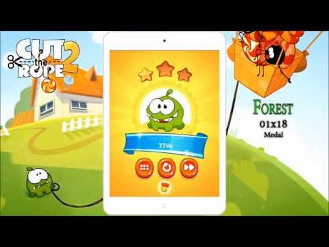Cut the Rope 2 Forest All Levels 1-24, 3 stars, medal, clover walkthrough 1-1 to 1-24