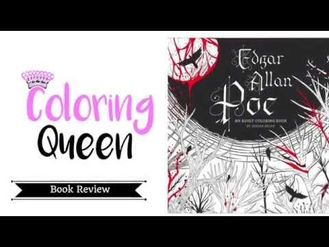 Edgar Allan Poe Coloring Book Review - Odessa Begay