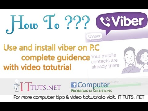 How To Use Viber On PC