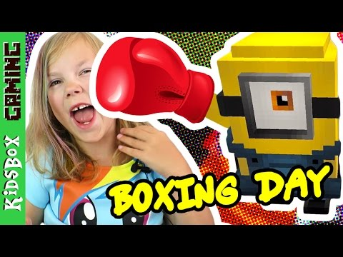 BOXING DAY! Minions Boxing and Pizza ❑  Minecraft PE