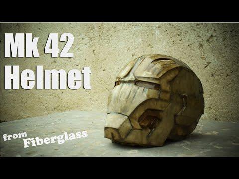 Iron Man mk42 Helmet Fiberglass