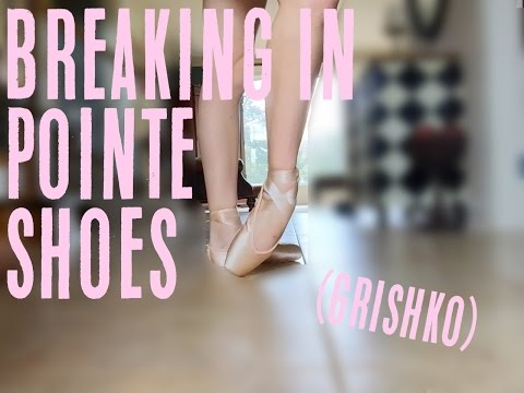 Breaking In New Pointe Shoes {Grishkos} | Audrey Ann
